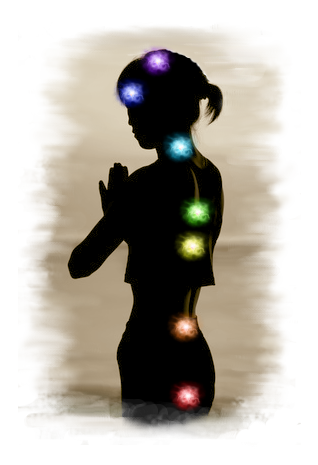 Illustration der Chakras